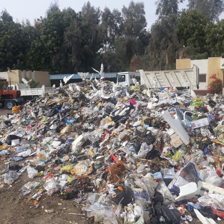 9 اطنان القمامةة