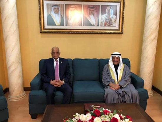 الدكتور على عبد العال رئيس البرلمان وعلى بن صالح الصالح رئيس البرلمان البحرينى