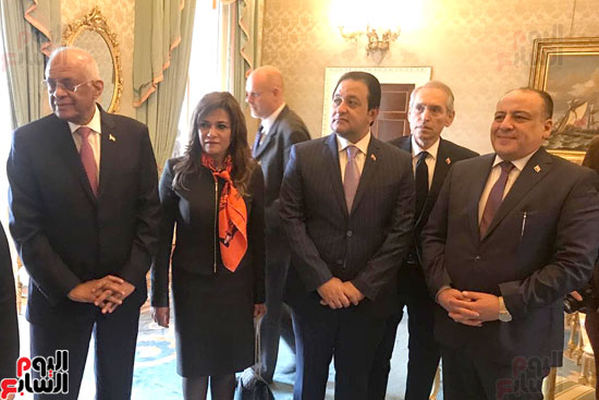 وفد البرلمان المصرى برئاسة عبد العال يلتقى رئيس جمهورية إيرلندا