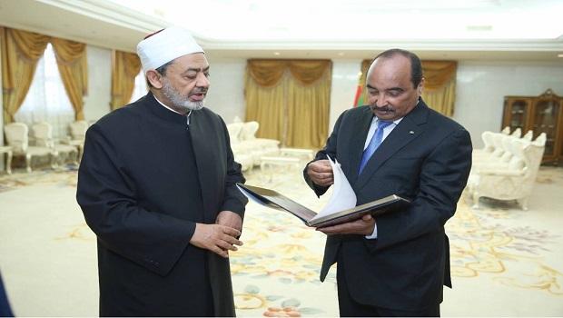2- شيخ الازهر والرئيس الموريتانى