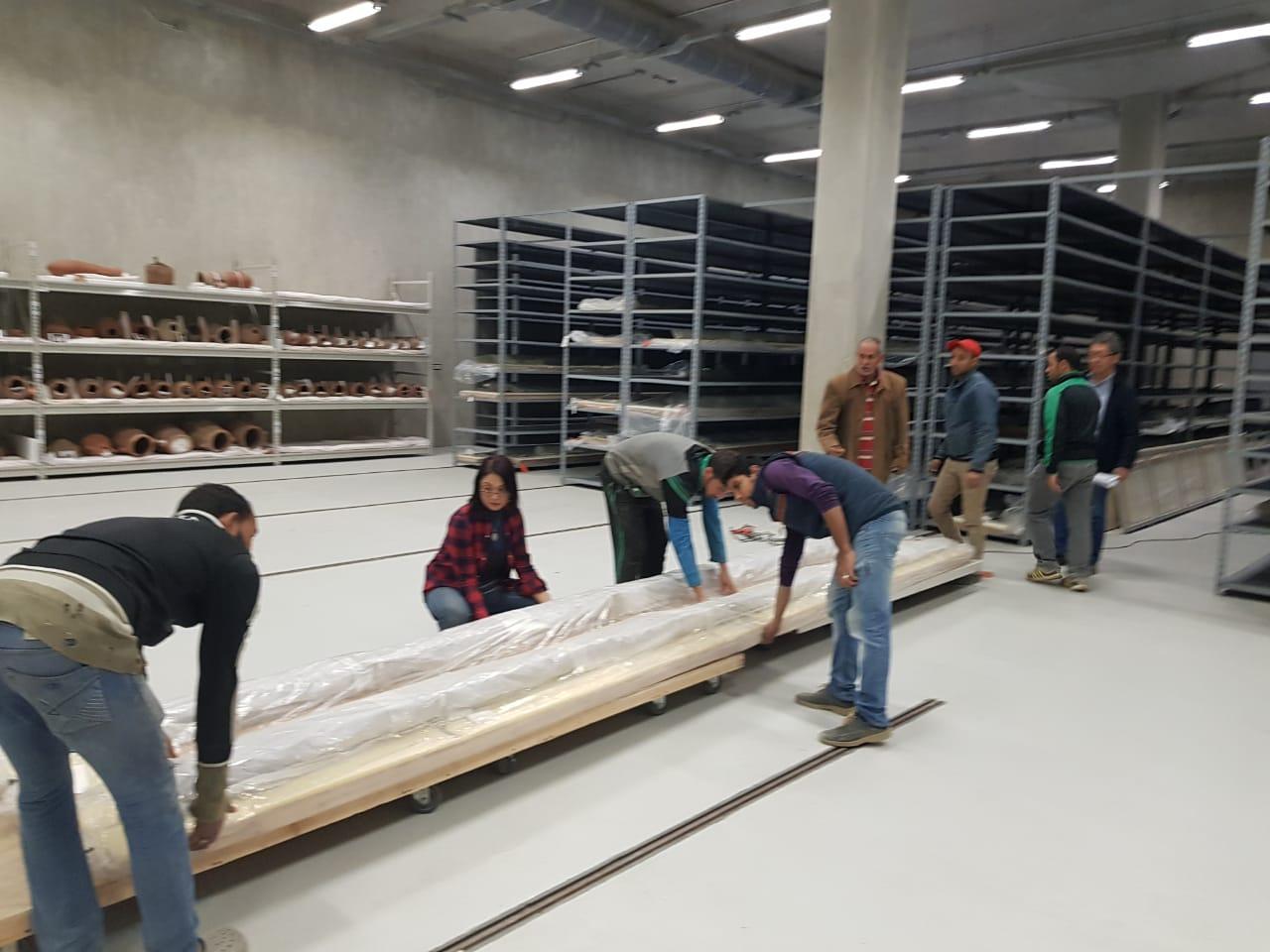 خلال عملية نقل الآثار للمتحف الكبير (9)