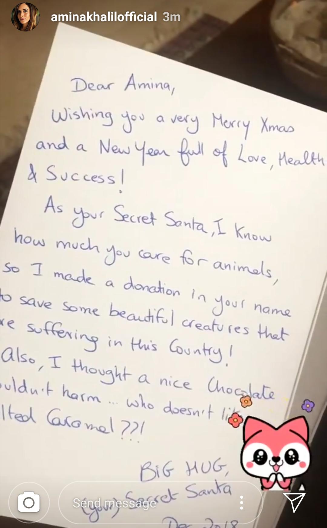 هدية سيكرت سانتا لأمينة  خليل