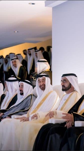 حكام الإمارات يشاهدون الاحتفالا