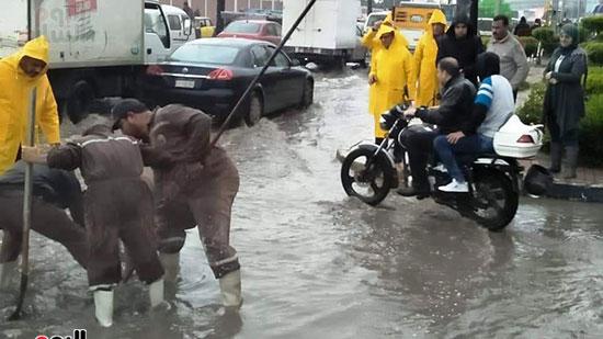 أمطار غزيرة فى الإسكندرية (20)