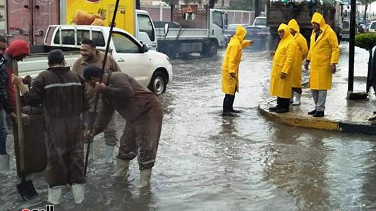 أمطار غزيرة فى الإسكندرية (16)