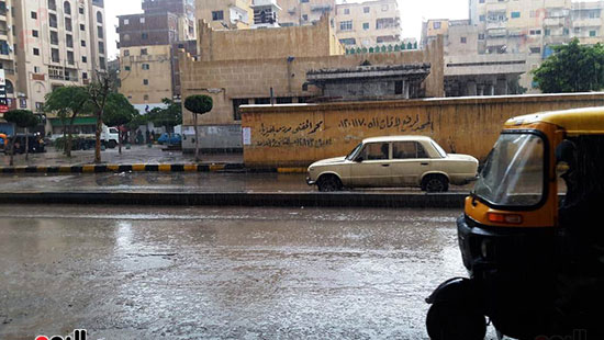 أمطار غزيرة فى الإسكندرية (3)