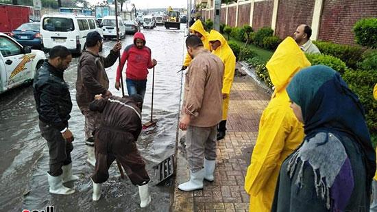 أمطار غزيرة فى الإسكندرية (13)