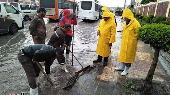 أمطار غزيرة فى الإسكندرية (14)