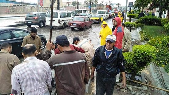 أمطار غزيرة فى الإسكندرية (19)