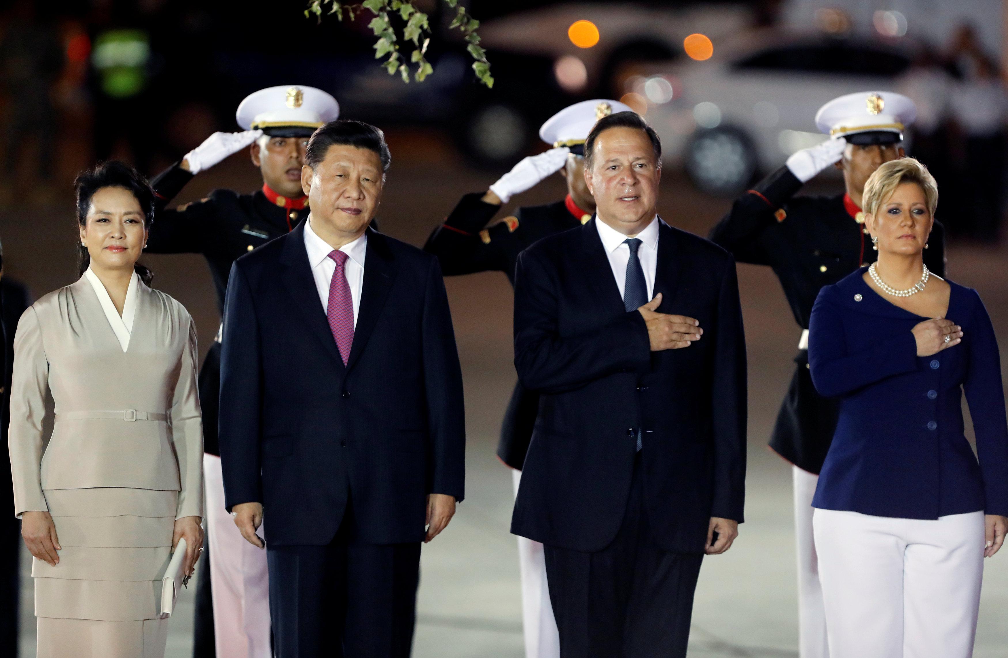 استقبال الرئيس الصينى فى بنما