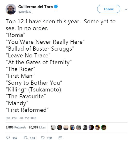 القائمة الكاملة لافلامه المفضله
