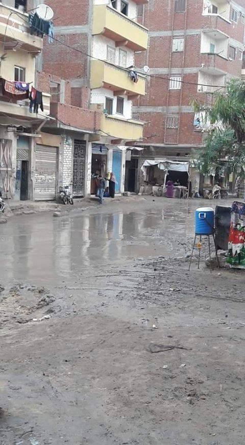 غرق شوارع منطقة خورشيد بالاسكندرية