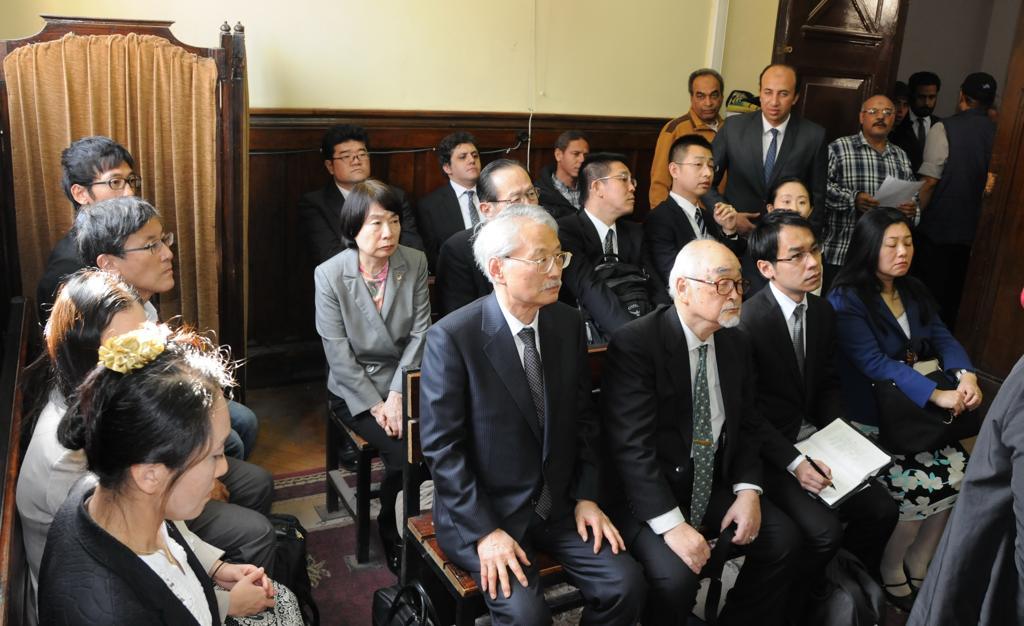 رئيس استئناف القاهرة خلال استقباله الوفد اليابان (3)
