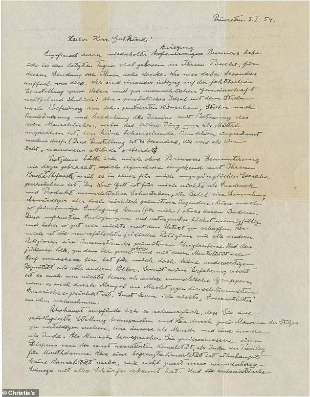 رسالة اينشتين