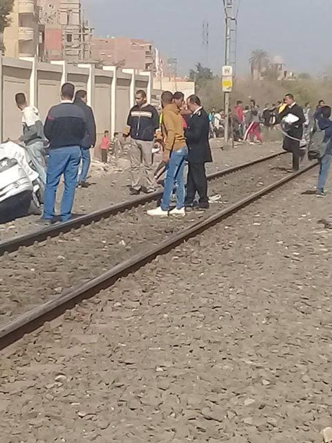 موقع حادث على مزلقان بشتيل  (1)