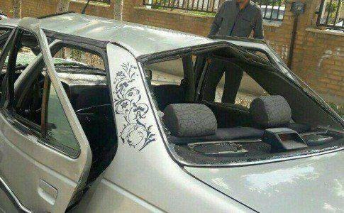 صورة للسيارة المفخخة فى ايران