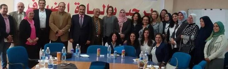 وفد  برنامج الأمم المتحدة   يزور مركز  استضافة وتوجيه المرأة بالمنيا (1)