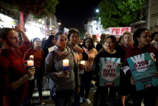 مظاهرت فى اسرائيل لتزايد العنف ضد النساء (5)