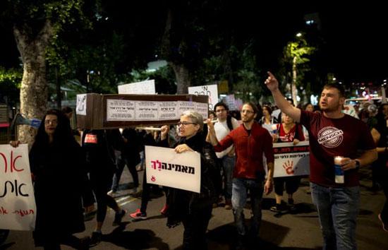 مظاهرت فى اسرائيل لتزايد العنف ضد النساء (1)