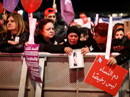 مظاهرت فى اسرائيل لتزايد العنف ضد النساء (3)