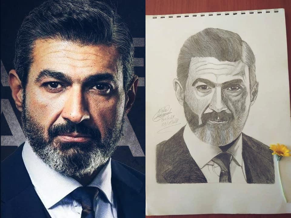 رسم الفنان ياسر جلال