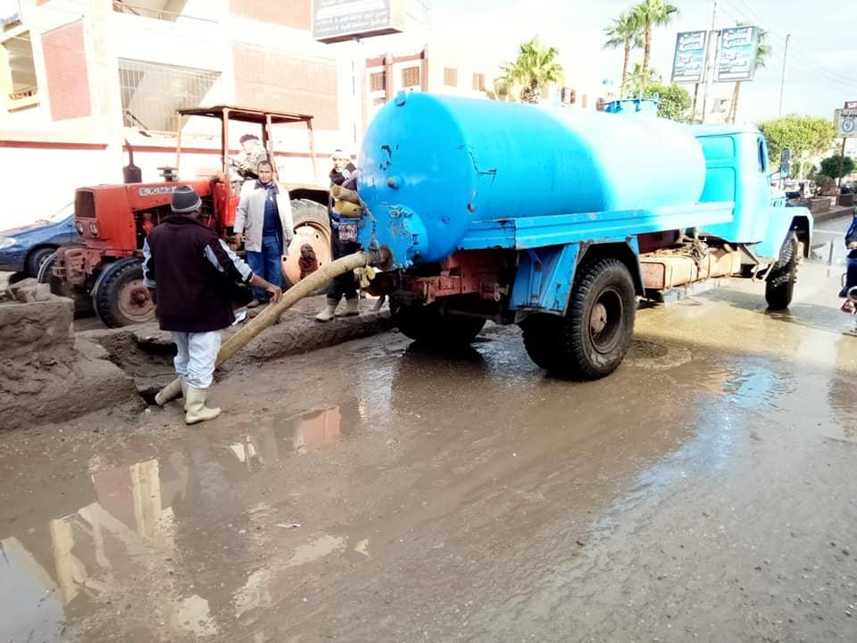 4- شفط مياه الأمطار من الشوارع