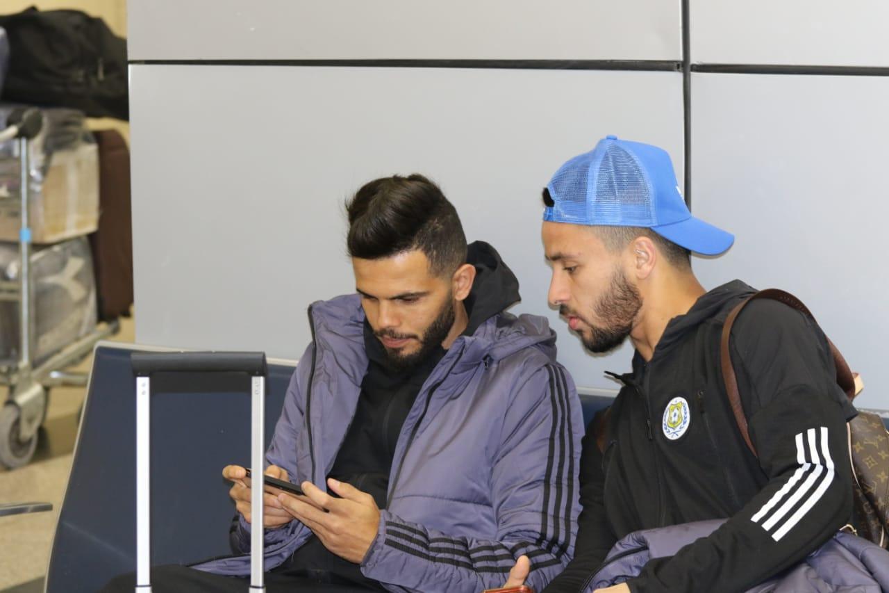 بعثة الإسماعيلى تصل مطار القاهرة استعدادًا للسفر للمغرب (7)