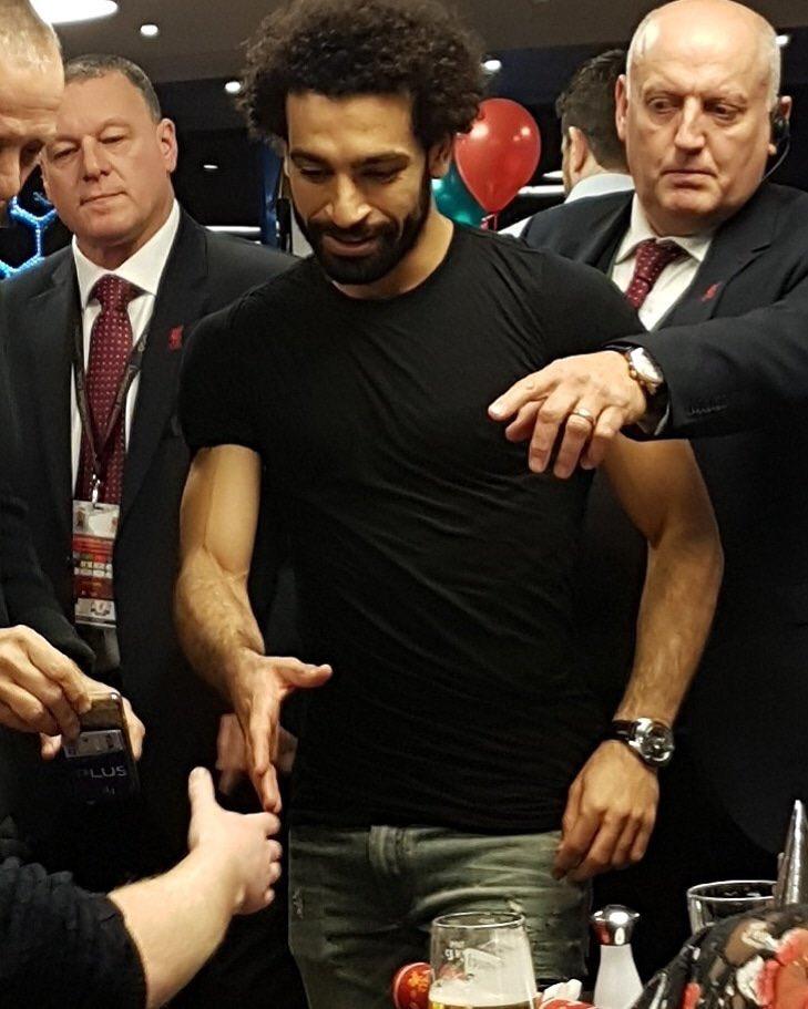 محمد صلاح في الحفل
