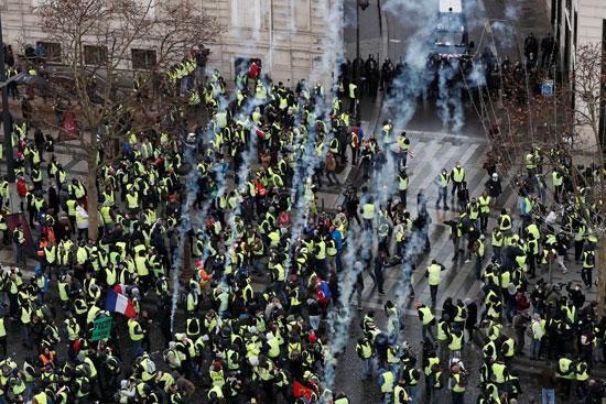 مظاهرات-وسط-باريس