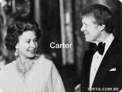 الملكة مع كارتر
