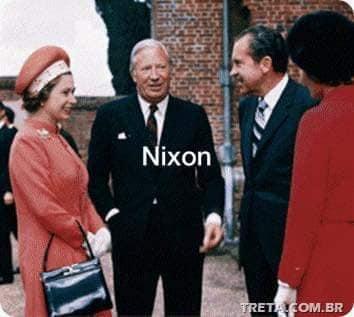 الملكة مع نيسكون