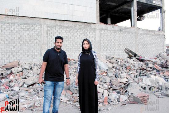 حسين من أمام أحد المولات التى قصفها الحوثى يروى ما شاهده أثناء هجوم الميليشيا