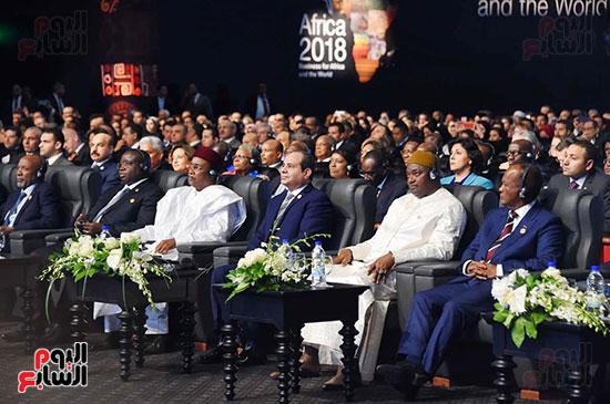 الرئيس السيسى يفتتح منتدى أفريقيا 2018 بشرم الشيخ (1)