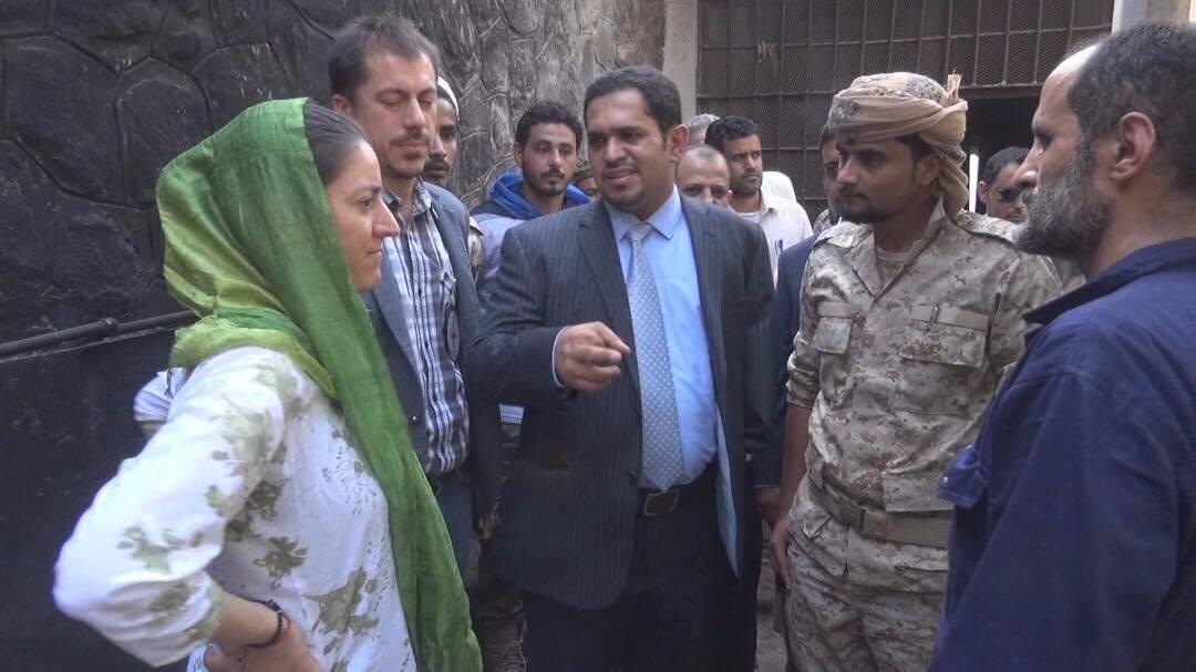 وزير حقوق الغنسان مع بعثة اللجنة الدولية للصليب الأحمر