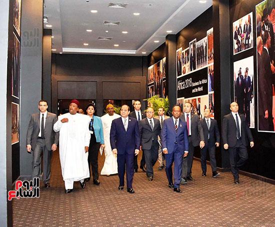 الرئيس السيسى يفتتح منتدى أفريقيا 2018 بشرم الشيخ (7)