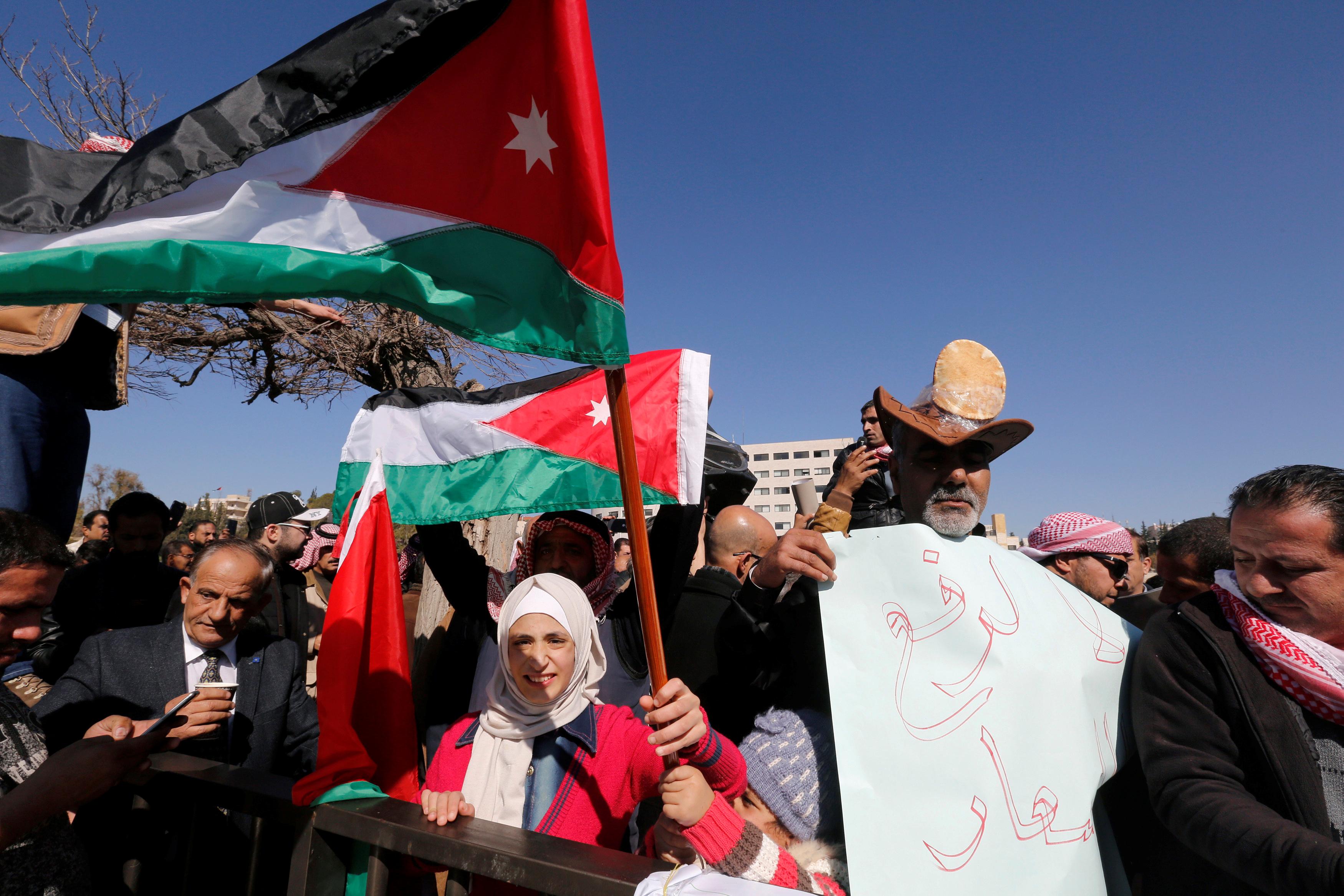 احتجاجات ضد ارتفاع الأسعار فى الأردن