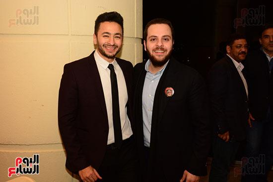 أشرف عبد الباقى ونجوم الفن يحتفلون بـالعرض 100 لمسرح مصر (40)