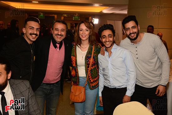 أشرف عبد الباقى ونجوم الفن يحتفلون بـالعرض 100 لمسرح مصر (50)