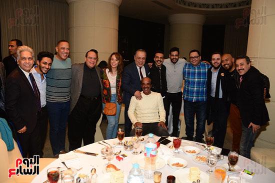 أشرف عبد الباقى ونجوم الفن يحتفلون بـالعرض 100 لمسرح مصر (52)