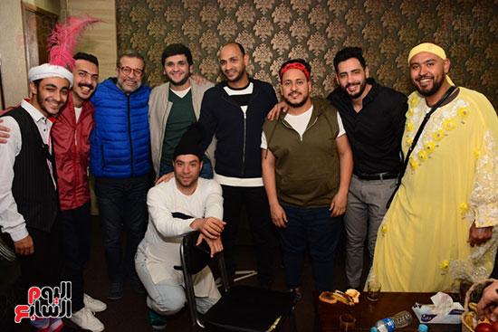 أشرف عبد الباقى ونجوم الفن يحتفلون بـالعرض 100 لمسرح مصر (64)