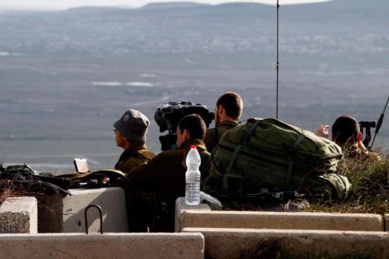 رصد موقع تحطم الطائرة الإسرائيلية على الحدود السورية