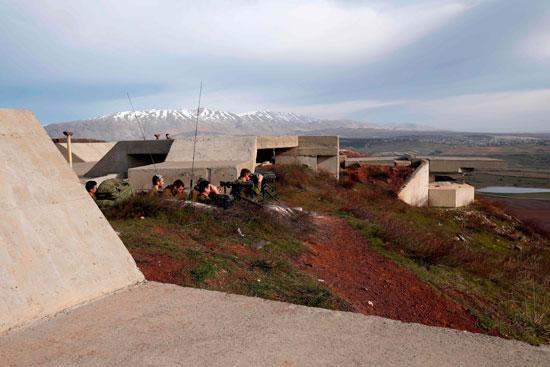 نقطة تمركز لقوات الاحتلال على هضبة الجولان المحتلة