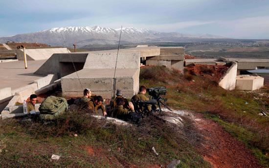 أجهزة رصد وإرسال إسرائيلية على هضبة الجولان المحتلة