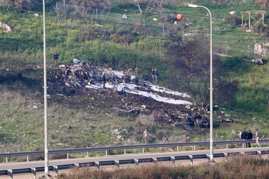اسقاط طائرة إسرائيلية بنيران سورية