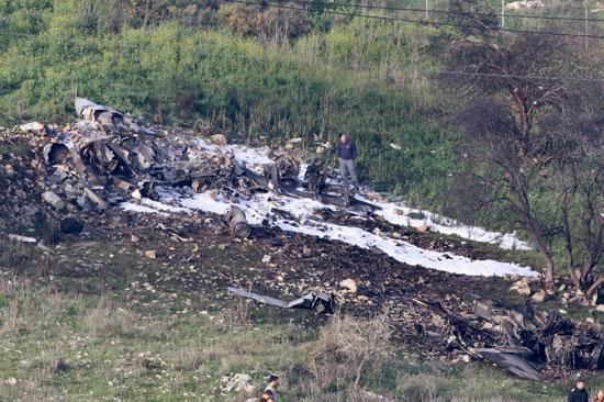 اسقاط طائرة إسرائيلية من طراز إف 16