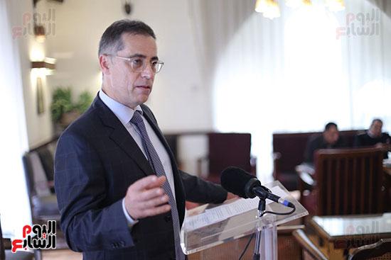 السفير السويسرى خلال المؤتمر
