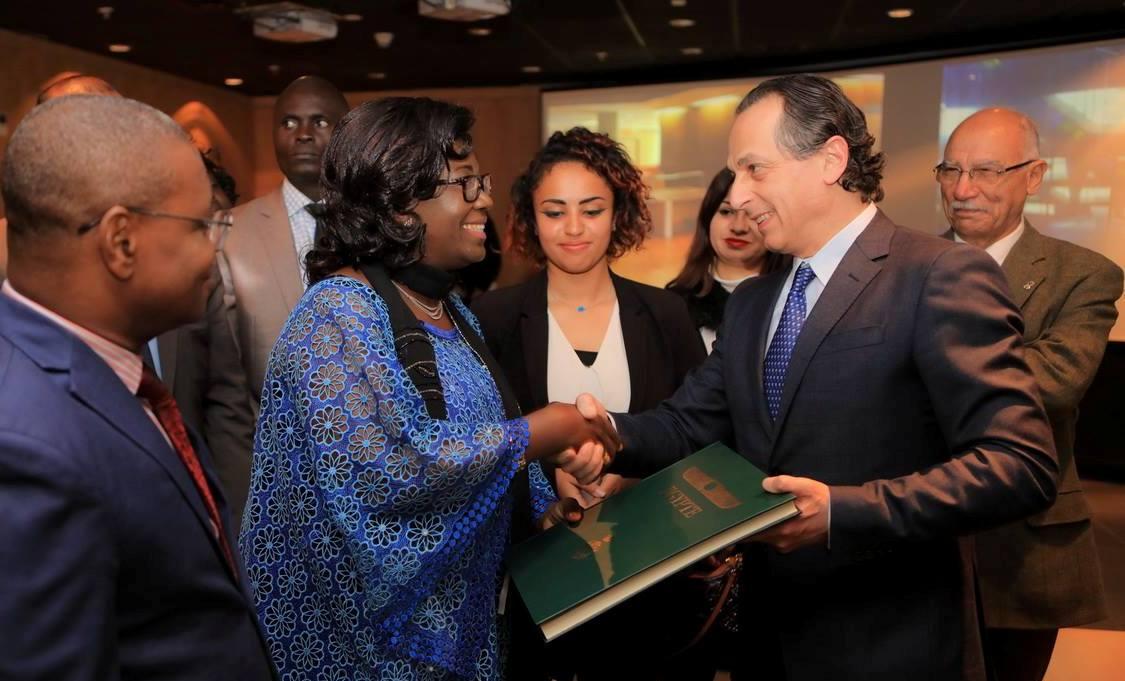 زيارة حرم رئيس افريقيا الوسطى