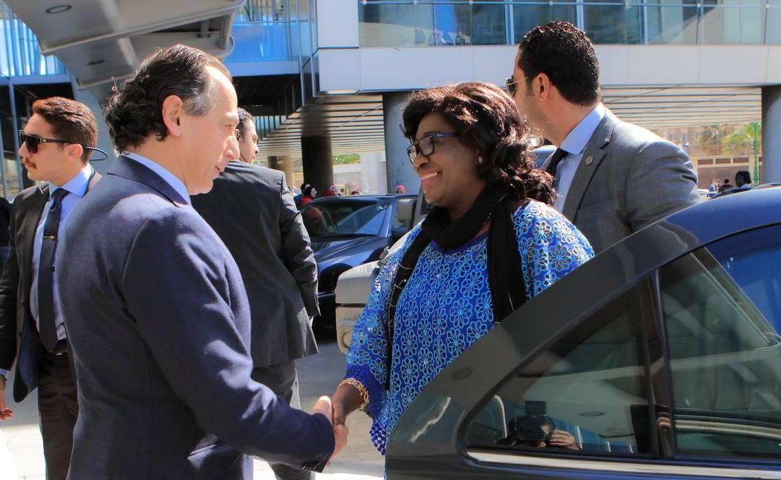 استقبال حرم رئيس افريقيا الوسطى