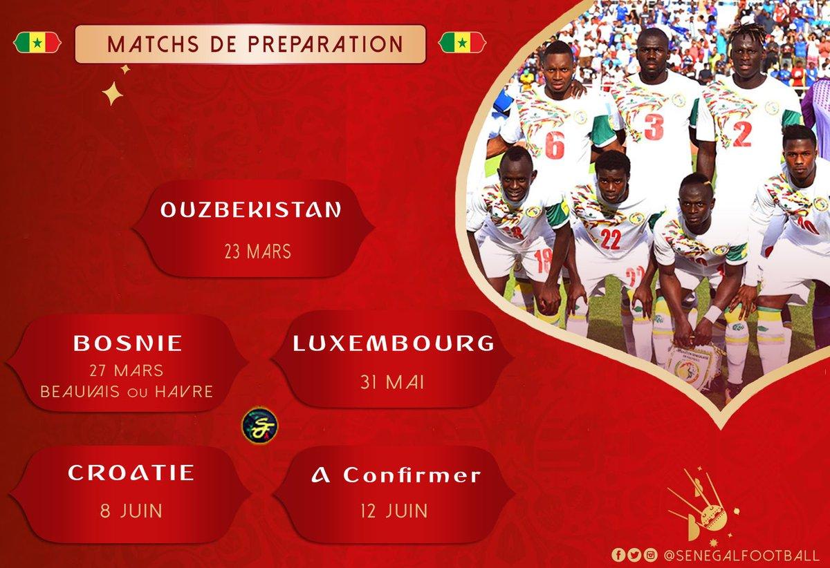 جدول مباريات السنغال قبل كأس العالم