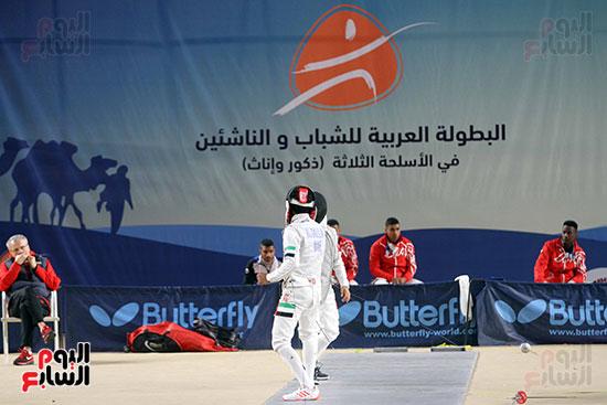 منافسات الشيش للشابات بالبطولة العربية للسلاح  (1)